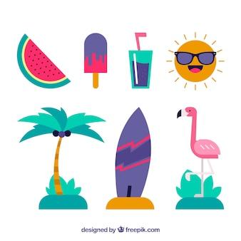 Collection plate d'éléments d'été