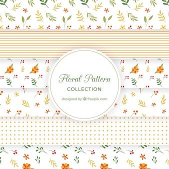 Collection rétro de motif floral