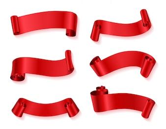 Collection rouge de gros rubans