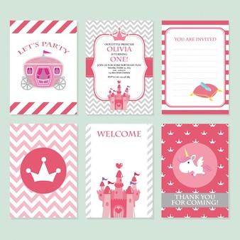 Coloré cartes d'anniversaire conception
