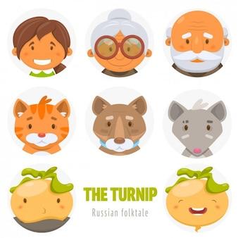 Coloré avatars illustrations