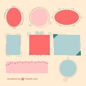 Coloré conception de cadres