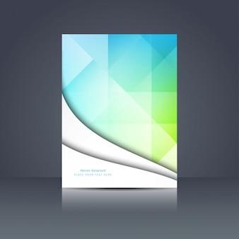 Coloré conception de la brochure polygonale