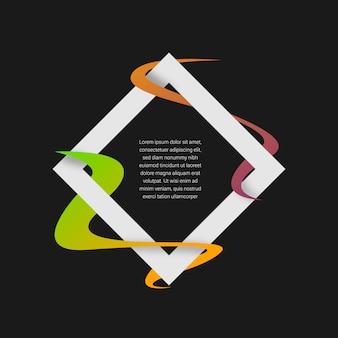Coloré conception du cadre