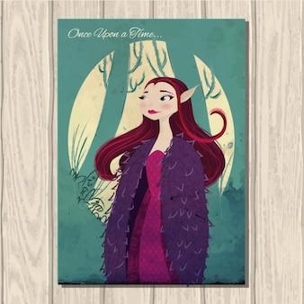 Coloré couverture de conte de fées
