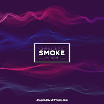 Coloré et abstrait de fumée