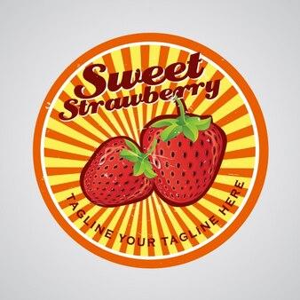 Coloré fraises badges