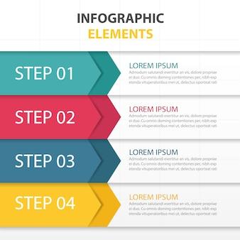 Coloré modèle infographique d'affaires abstracttriangle