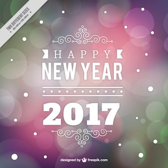 Colored nouvelle année bokeh