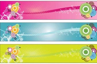 Colorful Bannières rétro