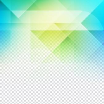 Colorful conception de forme polygonale sur fond transparent