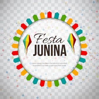 Colorful festa junina background