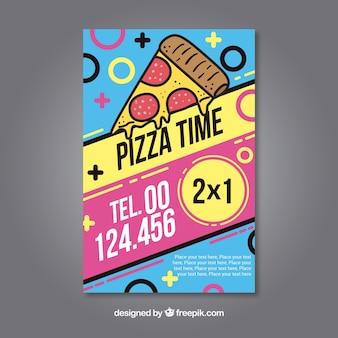 Colorful flyer pizza