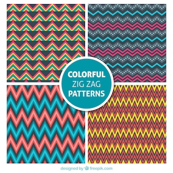 Colorful Motif Collection Zig Zag