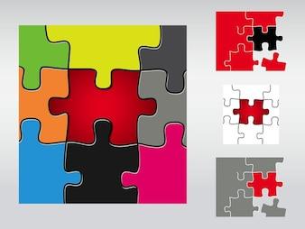 Colorful pièces de puzzle connexions jeu