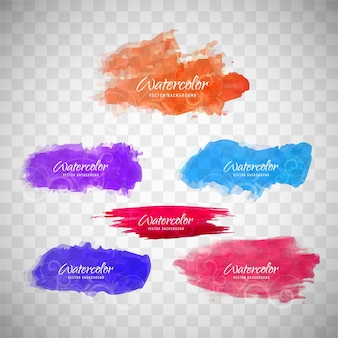 Colorful splash aquarelle