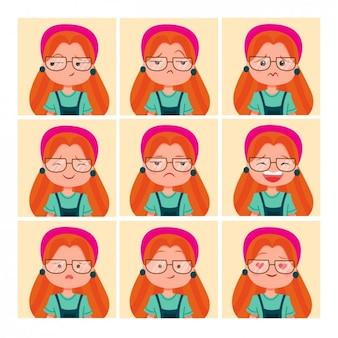 Coloured femme avatars