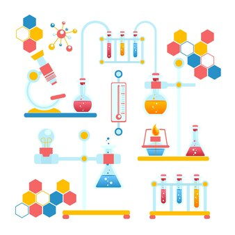 Composition infographique de la chimie