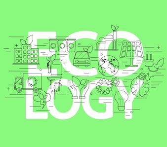 Concept d'écologie.