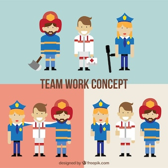 Concept d'équipe de travail