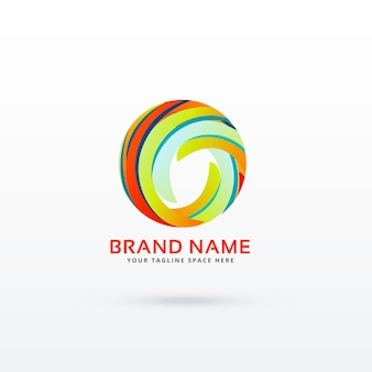 Concept de conception de logo de cercle abstrait
