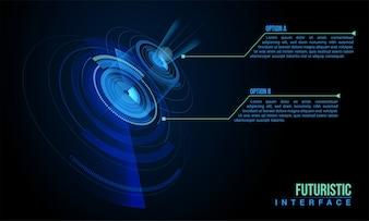 Concept de fond d'information sur les puce internet