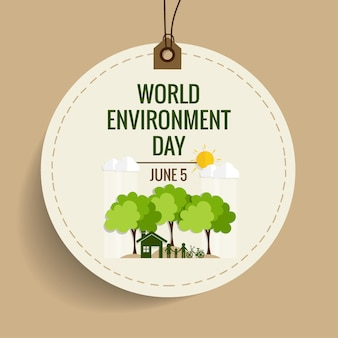 Concept de la journée mondiale de l'environnement. Illustration vectorielle