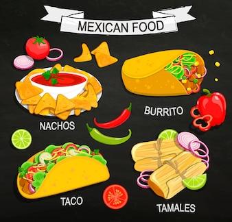 Concept de menu alimentaire mexicain.