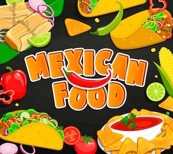 Concept de nourriture mexicaine.