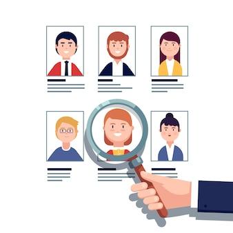 Concept de recherche d'embauche d'employés