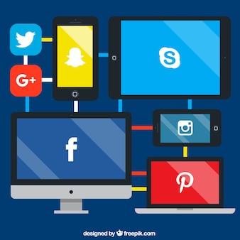 Concept de réseau de médias sociaux