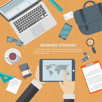 Concept de stratégie d'affaires