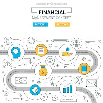 Concept financier avec éléments modernes
