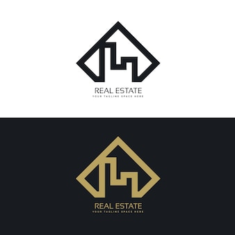 Concept moderne du logo immobilier