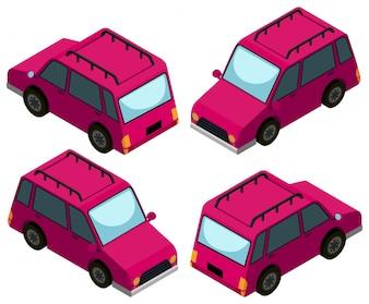 Conception 3D pour voitures roses