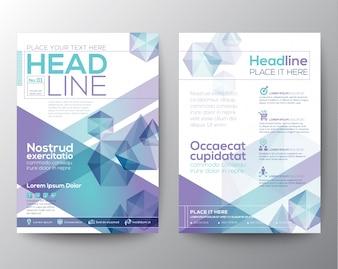 Conception abstraite de polygone modèle de dépliant brochure
