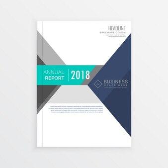 Conception brochure business modèle dans des formes géométriques rapport annuel de page de couverture en format A4
