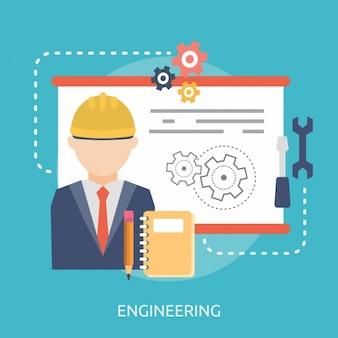 Conception d'arrière-plan de l'ingénierie