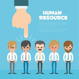 Conception d'arrière-plan des ressources humaines