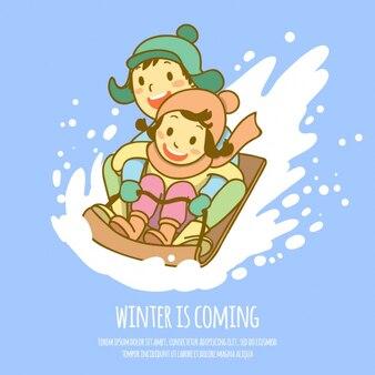 Conception d'hiver de fond