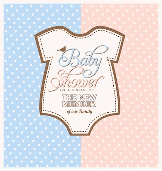 Conception d'invitation de douche de bébé