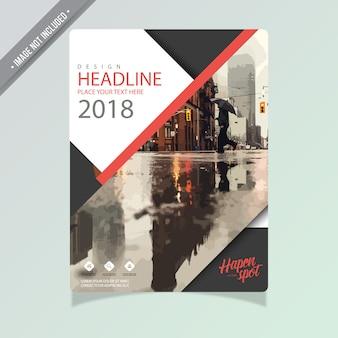 Conception de brochure commerciale en noir et blanc