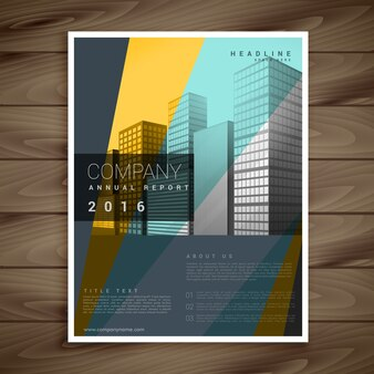 Conception de brochure d'entreprise moderne dans le style de couleur multi