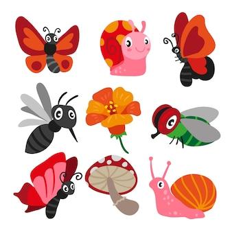Conception de caractère d'insecte