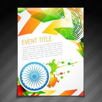 Conception de carte de drapeau indien vectoriel