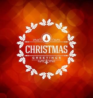 Conception de carte de Noël - élégante salutation élégante avec des éléments typographiques
