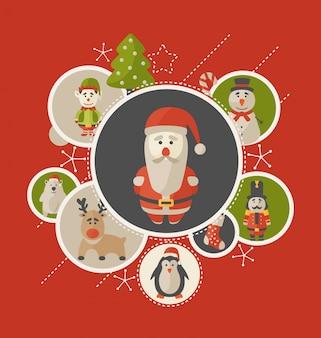 Conception de carte de voeux de Noël
