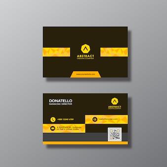 Conception de cartes d'affaires en or et noir