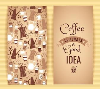 Conception de concept de café.