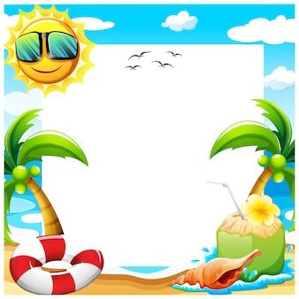 Conception de fond d'été